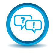 Question answer icon, blue, 3D Stock Illustration