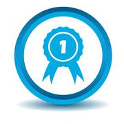 First place icon, blue, 3D Stock Illustration