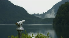 Coin telescope near the Alpsee, Neuschwanstein Castle Stock Footage