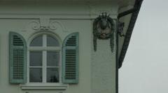 Beautiful detailed architecture on Schlosshotel Lisl, Neuschwanstein Castle Stock Footage