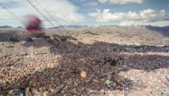 La Paz Cable Car Time Lapse (Bolivia) - stock footage
