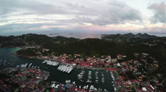 Stock Video Footage of 4K St Barth Carribean aerial.