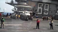 FA-18 POV take off. Stock Footage