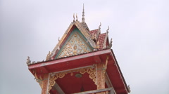 Stock Video Footage of Monastery gong tower Vientiane, Laos
