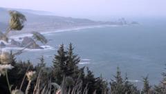 Oregon Coast Scenic: Cape Sebastian Stock Footage