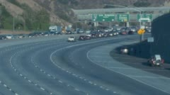 CHP Traffic Break Rush Hour Traffic on 5 Freeway Stock Footage