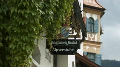 Alpseestube Gasthaus, a restaurant on Neuschwansteinstrasse, Neuschwanstein Stock Footage