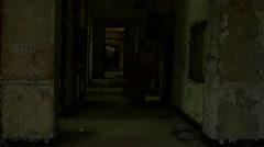 POV creepy building. Stock Footage