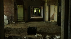 Creepy abandoned building. - stock footage