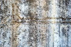 White old painted concrete dirty wall texture - stock photo