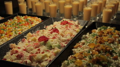 Hotel Restaurant Buffet Food, Nuevo Vallarta, Nayarit, Puerto Vallarta, Mexico, Stock Footage