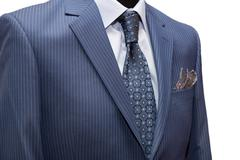 Close-up shot of a man dressed in formal wear. - stock photo