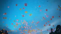 Dreams Flying to the Sky Stock Footage