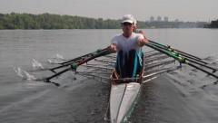 Stock Video Footage of Rowers  in action: power and passion