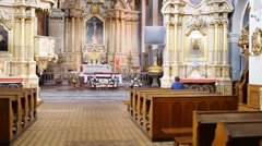 Parish Church of St. Stanislaus in Rzeszow Stock Footage