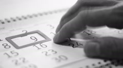 Changing a date Stock Footage