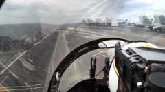 POV fighter jet takeoff. Stock Footage