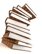 Books massive isolated on white #3 Stock Photos