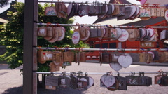 Buddhist prayer tablets. Stock Footage