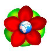globe in flower - stock photo