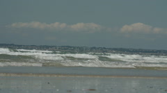Waves along French coast Stock Footage