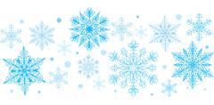 Snowflakes decorative element - stock illustration
