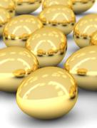 golden eggs array - stock photo