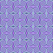 Purple mosaic with spiral shapes Stock Illustration
