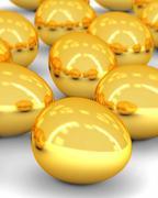 Golden eggs array Stock Photos