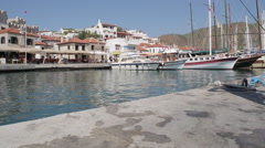 Castle viewed from Harbour, Marmaris, Anatolia, Turkey - stock footage