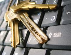 Keyboard of laptop with keys Stock Photos