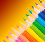 Stock Photo of colored pencils for school design