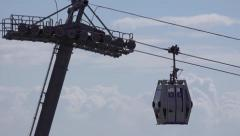 Cableway Close Up Stock Footage