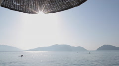 Beach & Aegean Sea, Marmaris, Anatolia, Turkey - stock footage
