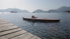 Boardwalk & Aegean Sea, Marmaris, Anatolia, Turkey Stock Footage
