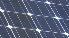 Closer look of the board of the solar panel Stock Footage