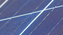 The blue panel of the solar panel board Stock Footage