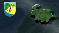 Antioquia whit Coat of arms animation map - stock footage