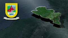 Narino whit Coat of arms animation map Stock Footage