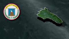 Quindio whit Coat of arms animation map - stock footage