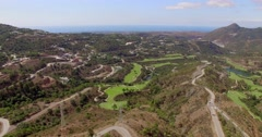 Aerial. Stunning View of Costa Del Sol Mountains Stock Footage