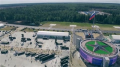 Aerial view of Patriot park in Russia Stock Footage