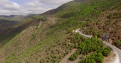 Aerial. Beautiful View on Spanish Mountains Stock Footage