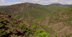 Aerial. Beautiful View on Spanish Mountains - stock footage