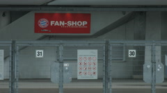 Fan shop at Allianz Arena, Munich Stock Footage