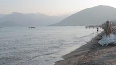 Beach Scene, Marmaris, Anatolia, Turkey Stock Footage