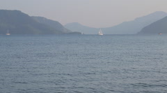 Aegean Sea, Sailing Boats, Marmaris, Anatolia, Turkey - stock footage