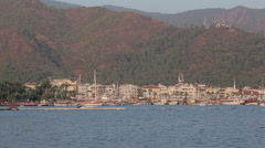 Harbour, Castle and Coastline, Marmaris, Anatolia, Turkey Stock Footage