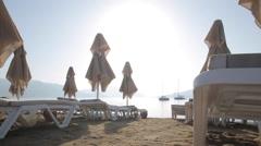 Beach Scene, Marmaris, Anatolia, Turkey - stock footage