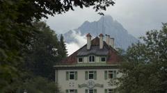 Close up to Schloss Lisl Hotel, Schwangau, Neuschwanstein Castle Stock Footage